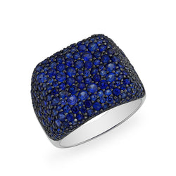 14KT White Gold Blue Sapphire Stingray Ring