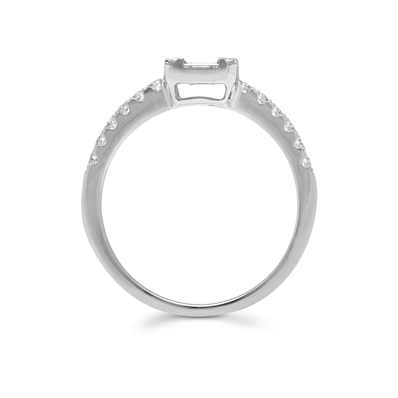14KT White Gold Baguette Diamond Adonis Ring-Anne Sisteron