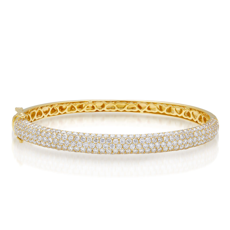 14KT Yellow Gold Diamond Dome Bangle