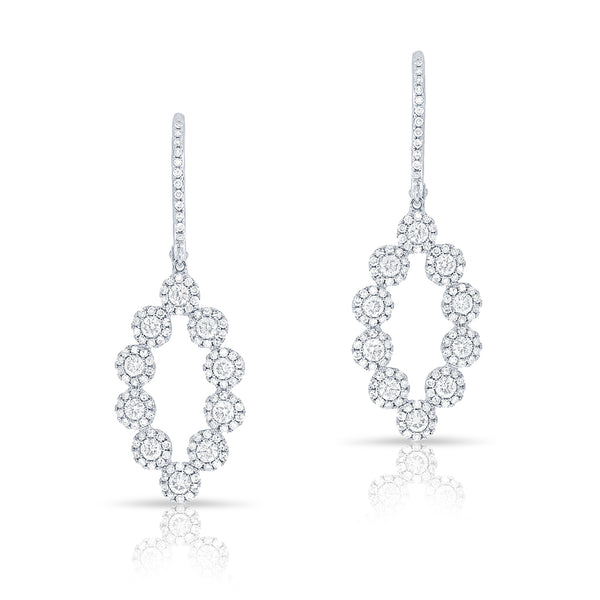 14KT White Gold Diamond Odessa Earrings