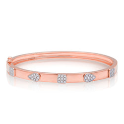 14KT Rose Gold Diamond Sloan Bangle Bracelet