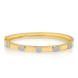 14KT Yellow Gold Diamond Sloan Bangle Bracelet