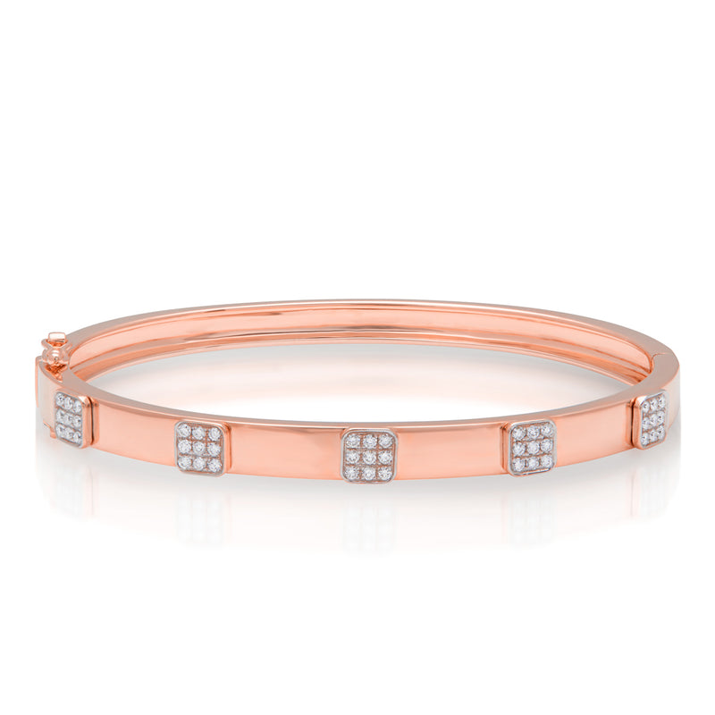 14KT Rose Gold Diamond Spencer Bangle Bracelet