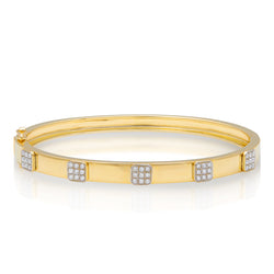 14KT Yellow Gold Diamond Spencer Bangle Bracelet