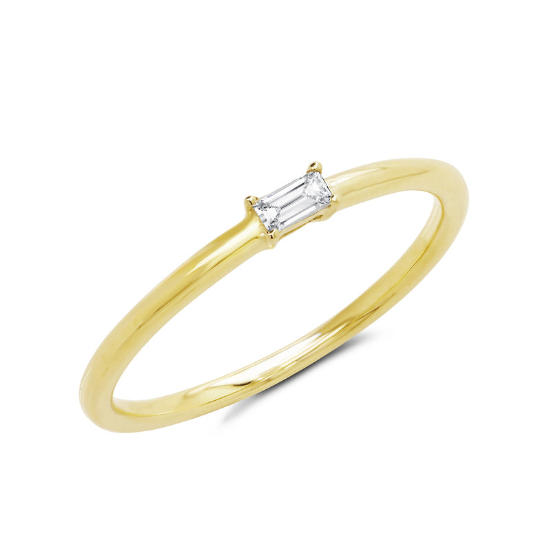 14KT Yellow Gold Baguette Diamond Layla Ring