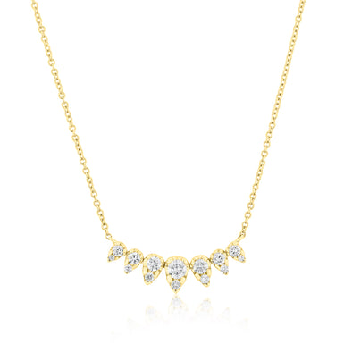 14KT Yellow Gold Diamond Duchess Necklace