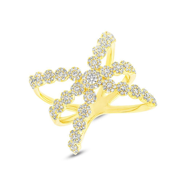 14KT Yellow Gold Diamond Harper Ring
