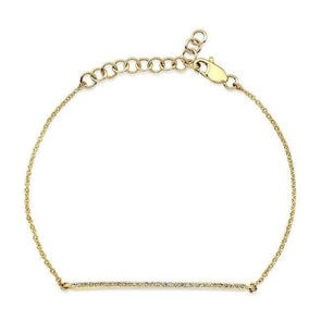 14KT Yellow Gold Diamond Bar Bella Bracelet