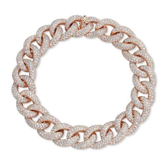 14KT Rose Gold Diamond Luxe Chain Link Bracelet