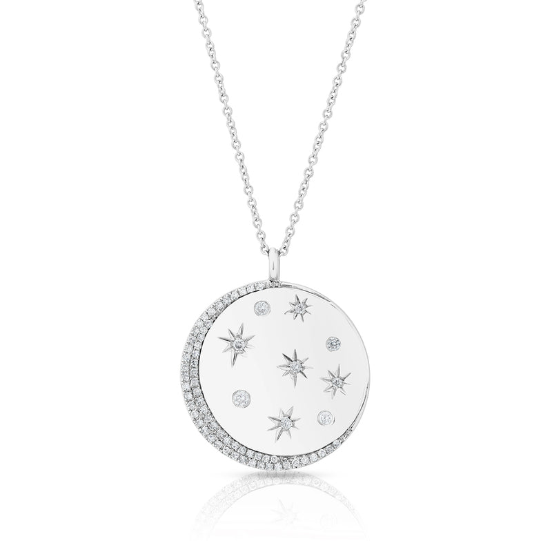 14KT White Gold Diamond Stellar Necklace