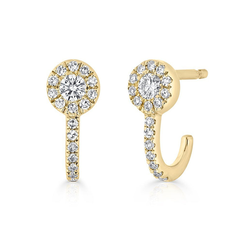 14KT Yellow Gold Diamond Henrietta Earrings