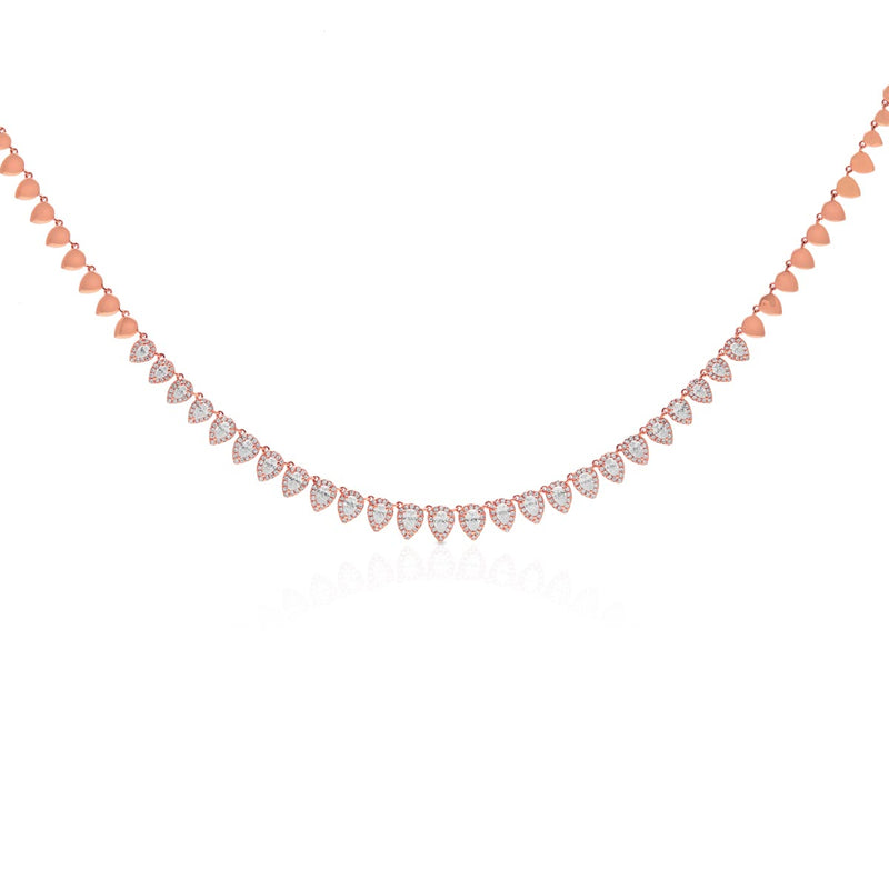 14KT Rose Gold Diamond Dakota Necklace