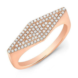 14KT Rose Gold Diamond Kite Ring