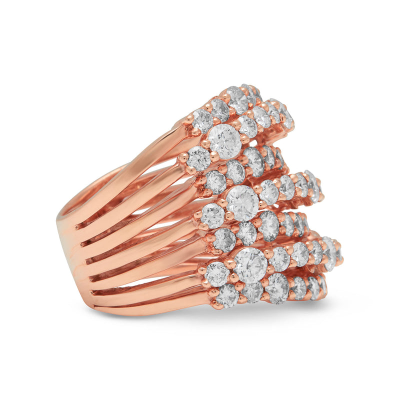 14KT Rose Gold Diamond Soraya Ring