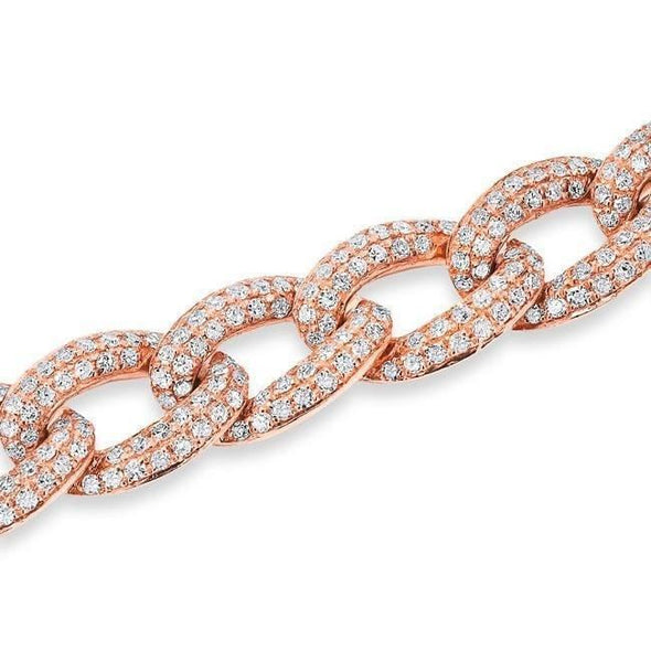 14KT Rose Gold Diamond Chain Link Magnificence Bracelet
