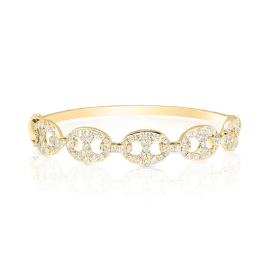 14KT Yellow Gold Diamond Reign Bangle Bracelet