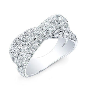 14KT White Gold Diamond Twist Ring