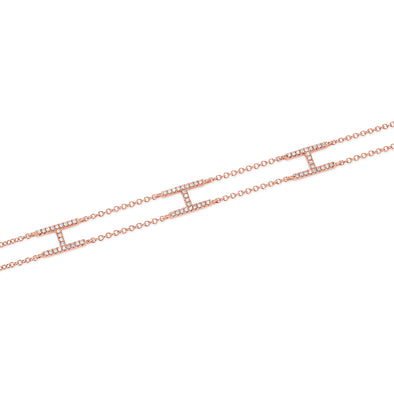14KT Rose Gold Diamond Heather Bracelet