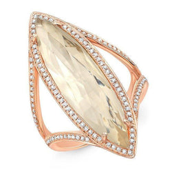 14KT Rose Gold Diamond Topaz Serena Ring