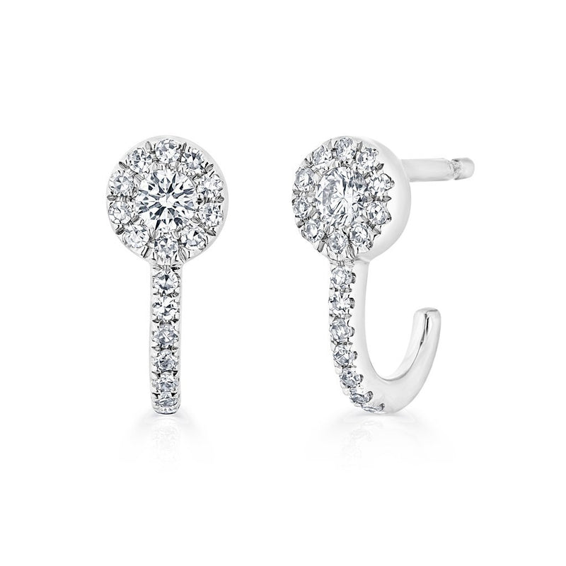 14KT White Gold Diamond Henrietta Earrings