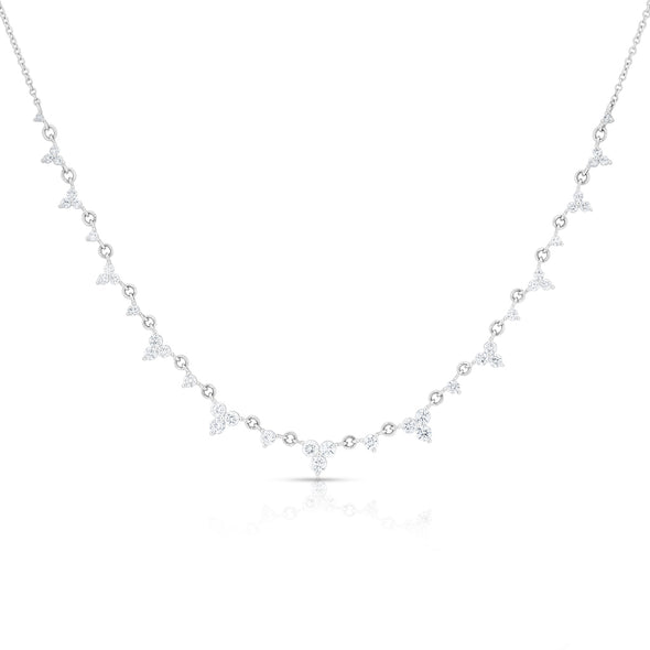 14KT White Gold Diamond Clara Necklace