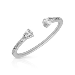 14KT White Gold Diamond Monet Stacking Ring
