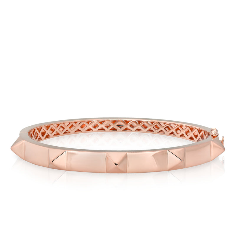 14KT Solid Rose Gold Harlow Bangle Bracelet