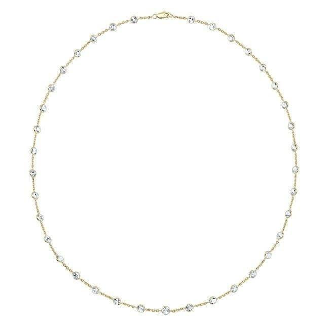 "14KT Yellow Gold Precious Topaz 40"" Necklace"