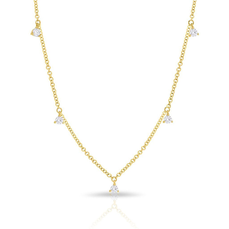 14KT Yellow Gold Diamond Shanley Necklace