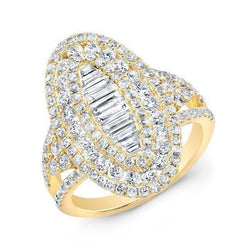 14KT Yellow Gold Baguette Diamond Era Ring
