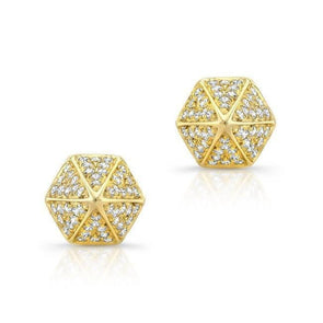 14KT Yellow Gold Diamond Olympia Studs
