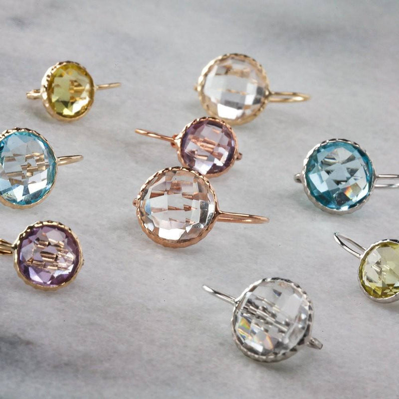 14KT White Gold Lemon Topaz Earrings