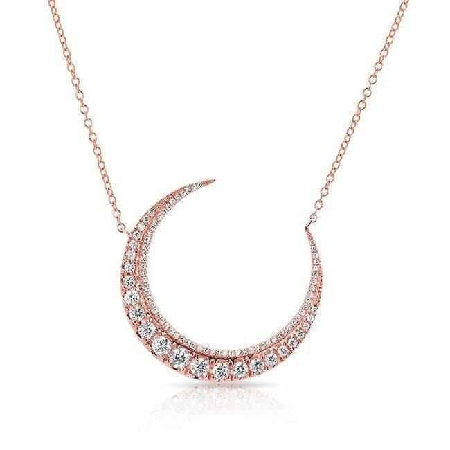 14KT Rose Gold Luxe Diamond Lunar Necklace