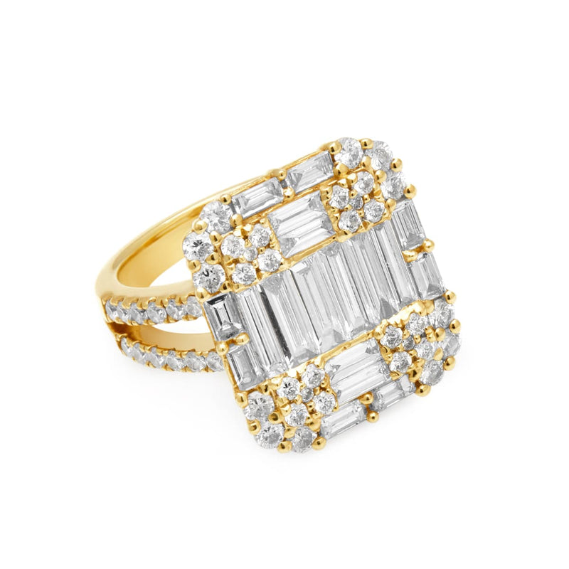 14KT Yellow Gold Baguette Diamond Renata Ring