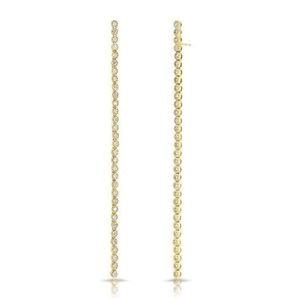 14KT Yellow Gold Diamond Leash Collection Dangle Earrings
