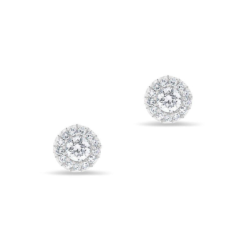 14KT White Gold Diamond Ava Stud Earrings