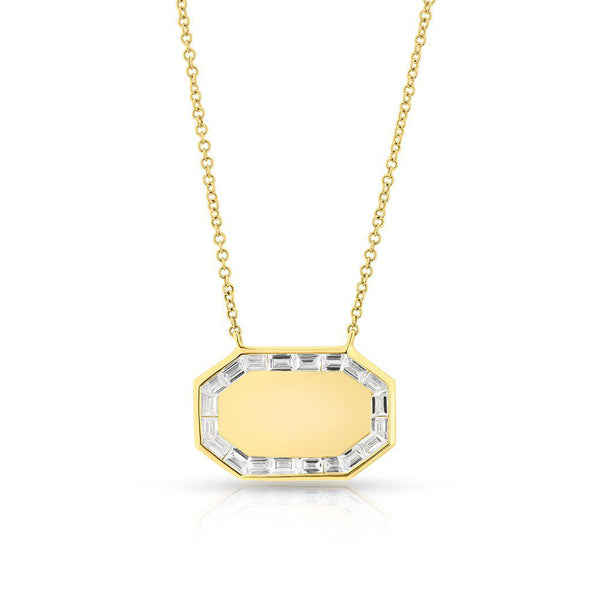 14KT Yellow Gold Baguette Diamond Alina Necklace