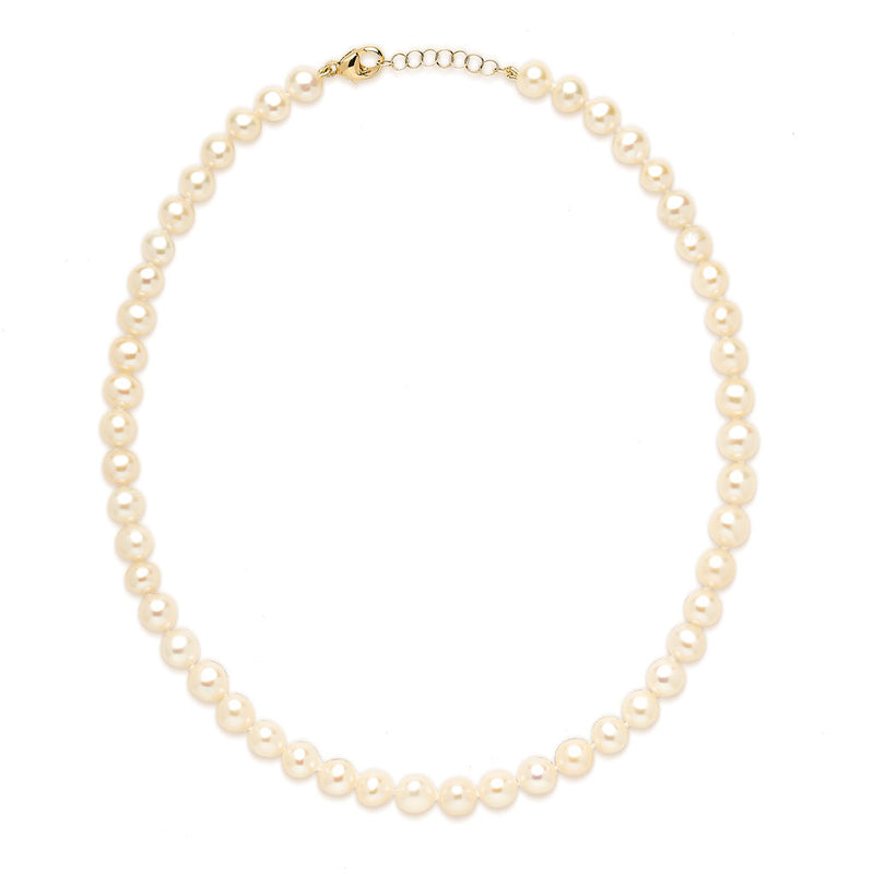 14KT Yellow Gold Grace 7mm Pearl Choker Necklace