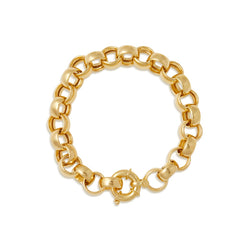 "14KT Yellow Gold Chain Link Delphine 7.5"" Bracelet"