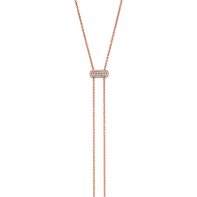 14KT Rose Gold Diamond Bolo Juliette Necklace