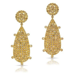 14KT Yellow Gold Diamond Empire Earrings