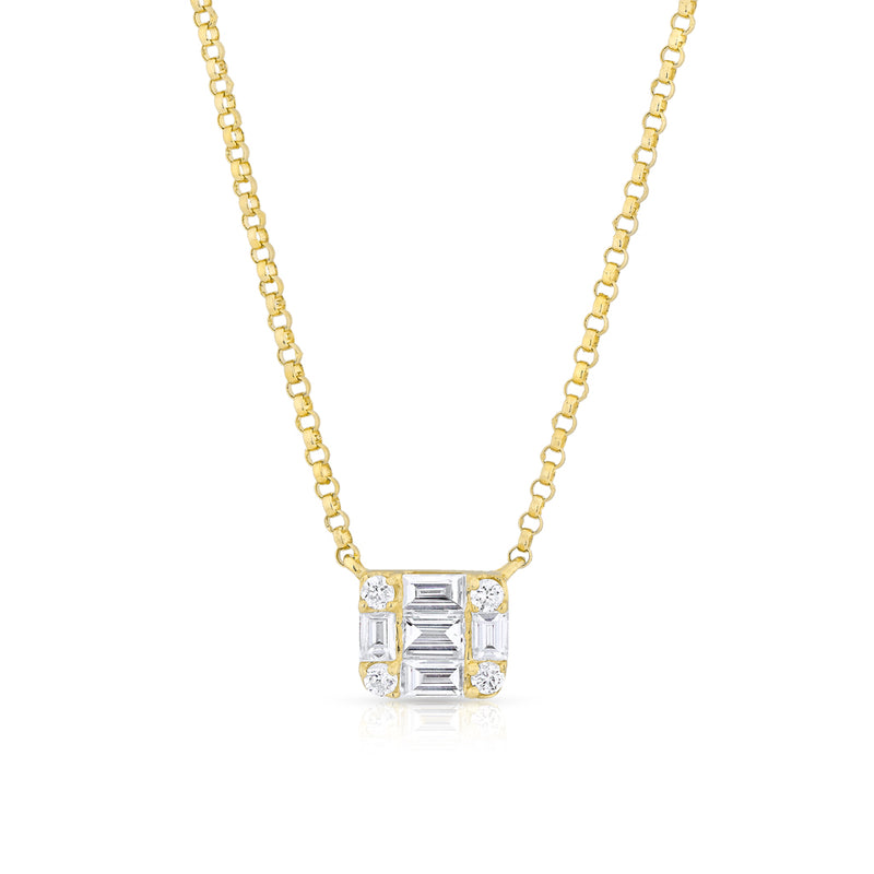 14KT Yellow Gold Baguette Diamond Haiden Necklace