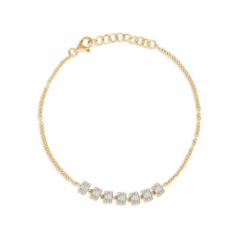 14KT Yellow Gold Baguette Diamond Genevieve Bracelet