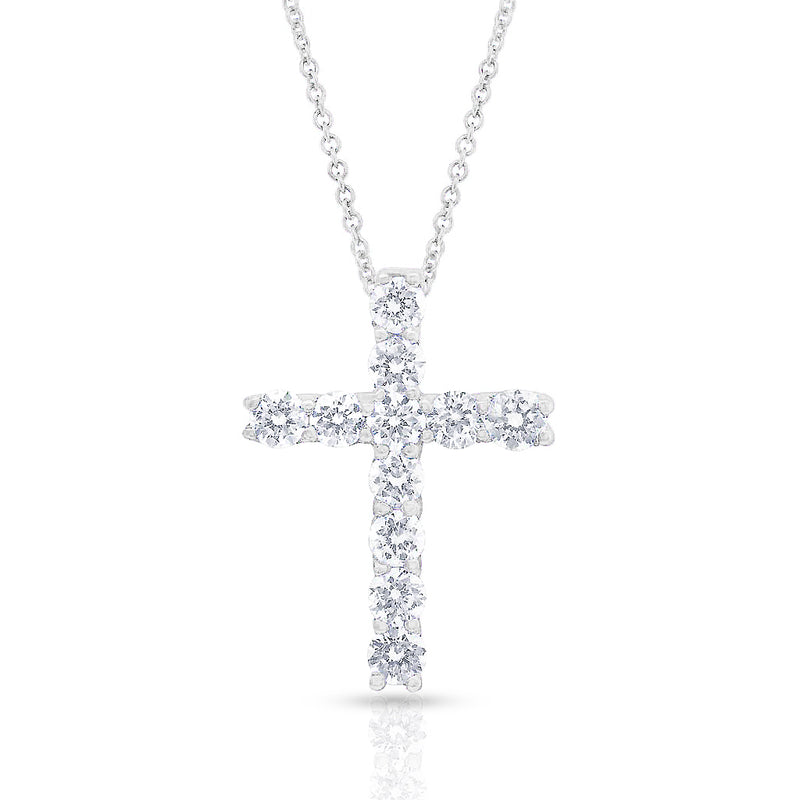 14KT White Gold Diamond Jodi Cross Necklace