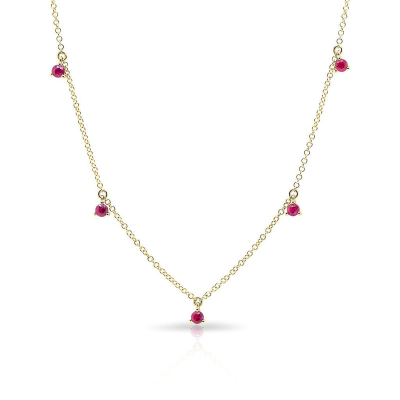 14KT Yellow Gold Ruby Shanley Necklace