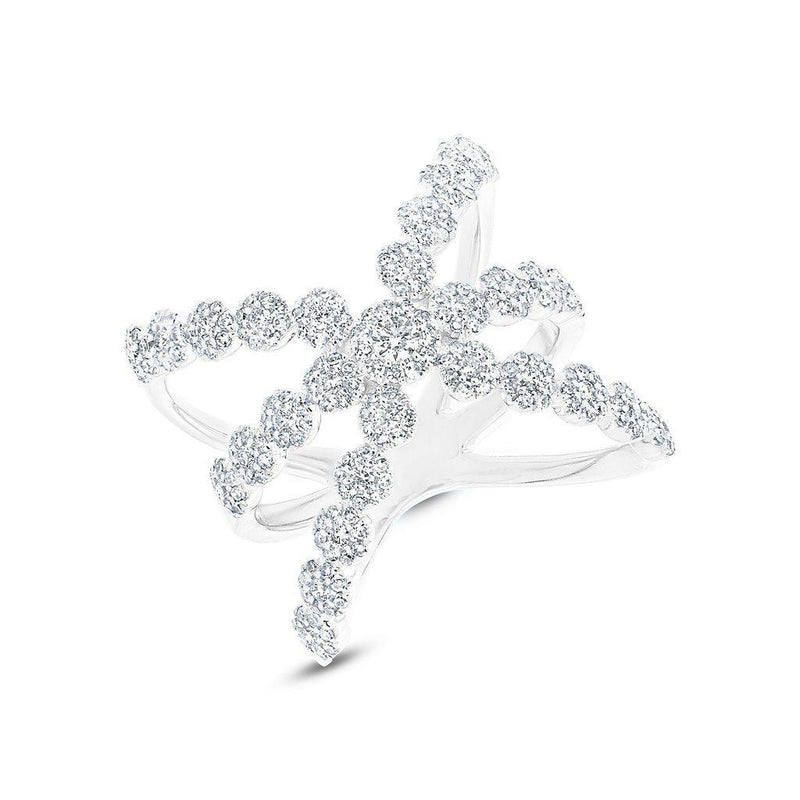 14KT White Gold Diamond Harper Ring