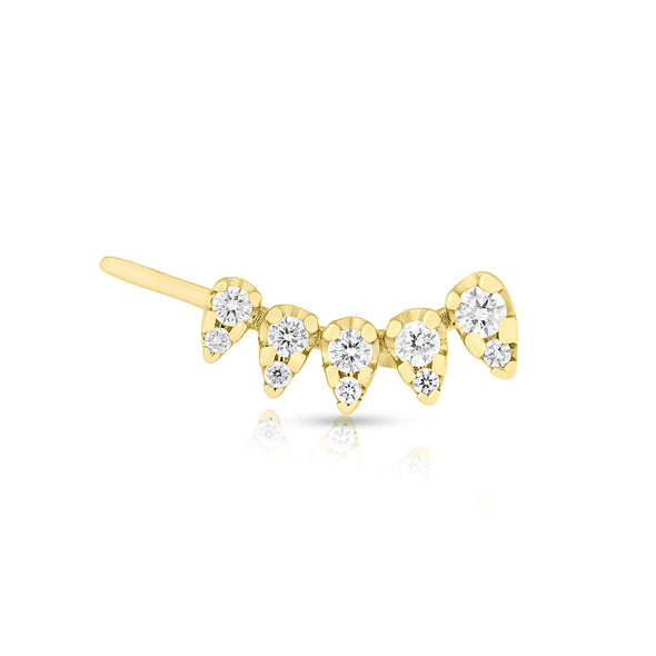 14KT Yellow Gold Diamond Duchess Ear Climber