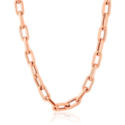 14KT Rose Gold Chain Link Luxe Lillian Necklace