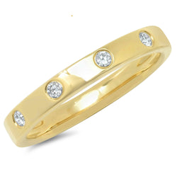 14KT Yellow Gold Diamond Sparkle Band Ring