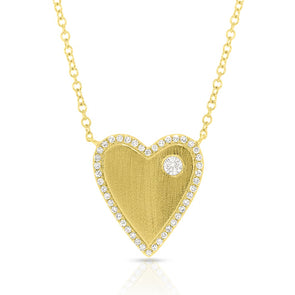 heart diamond necklace valentines day mothers day gift